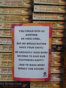"Charity Bookstore Says ""No More Copies of the Da Vinci Code"""