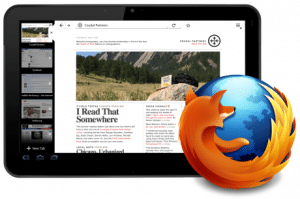 Mozilla Firefox for tablets now in the works