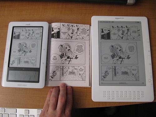 The Nook vs Paper vs Kindle