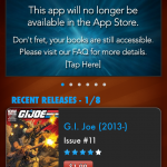 GI Joe Comic App Pulled from Apple App Store