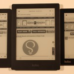 Kobo Aura, Kobo Glo and Kobo Aura HD Triparison