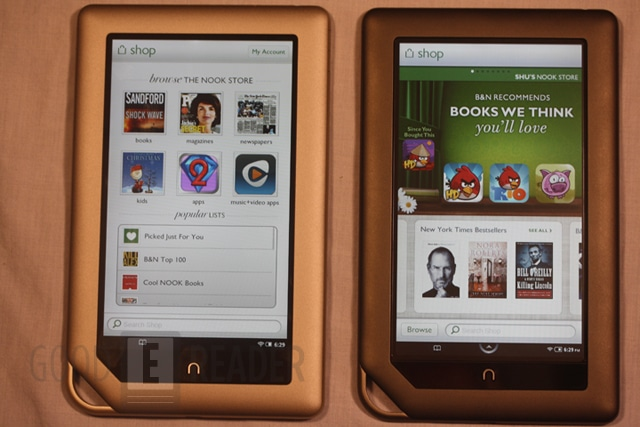 Kindle Vs Sony Reader: Barnes And Noble Nook Tablet And Nook Color Comparison Video