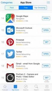 Microsoft's Updated Outlook App Overtakes Gmail in iTunes