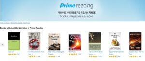 Amazon Prime Reading Now Includes Audiobooks