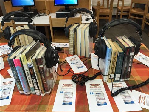 audiobooks display