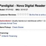 Pandigital Nova Digital Reader hits Bestbuy Today