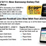 Sprint Galaxy Tab now priced at $200