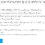 Google Play Books Increases EPUB and PDF File Upload Limits