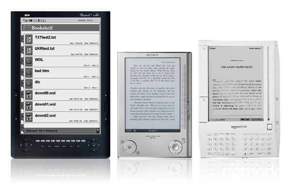 Kindle, Sony Reader, Hanlin eReader