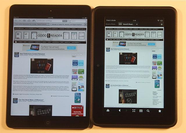 Amazon Kindle Fire HDX 7 vs Apple iPad Mini with Retina
