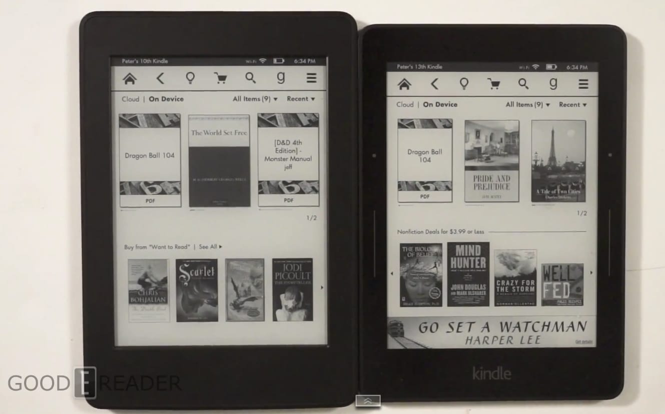 Kindle Vs Sony Reader: Amazon Kindle Voyage Vs Kindle Paperwhite 3