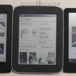Kindle Paperwhite, Kobo Glo, and Nook Glowlight Triparison