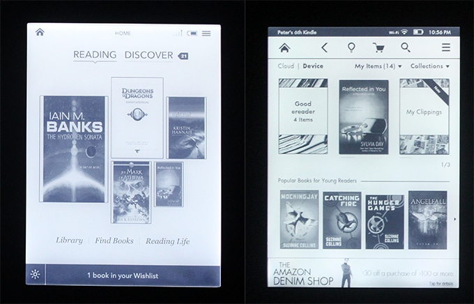 Kindle Vs Sony Reader: Cloud Library On Kobo