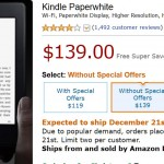 Amazon Kindle Paperwhite Shortage Grips the USA