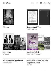 Kobo e-Readers have a new homescreen