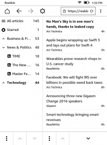 Amazon Kindle Gets a Brand New RSS Reader
