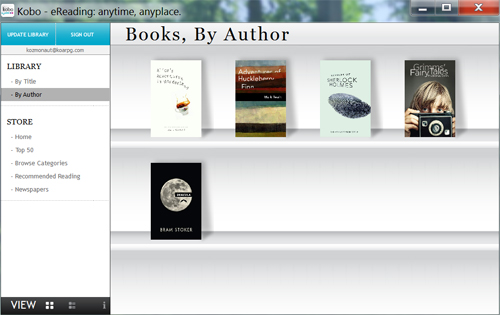 Kobo Releases new Desktop Application to Manage their E-Reader