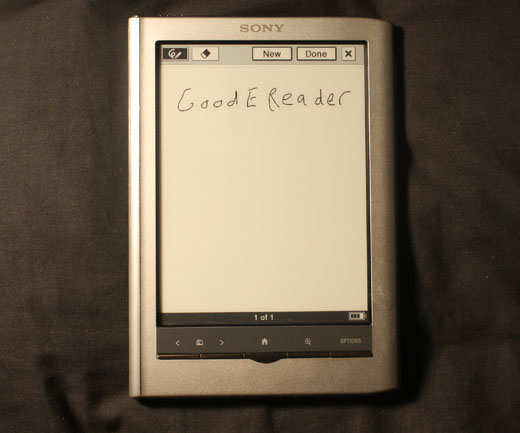 Review of the Sony PRS-650 Touch Edition e-Reader