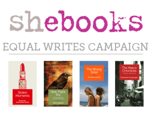 Shebooks Launches Kickstarter Campaign for Equal Writes
