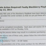 RIM Recalls More Than 900 Faulty BlackBerry PlayBooks