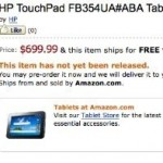 HP TouchPad 4G Now on pre-Order at Amazon