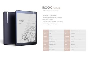 Onyx Boox Nova e-Reader has a 7.8 inch Screen and Google Play