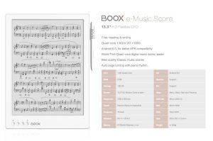 Onyx Boox e-Music Score has 128GB of Internal Storage