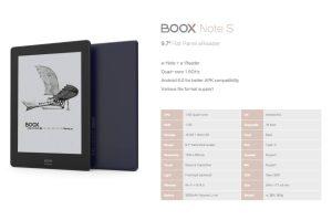 Onyx Announces Boox Note S e-Reader