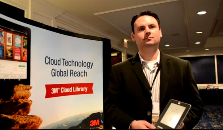 3M's Tom Mercer unveiling the dedicated library ereader.