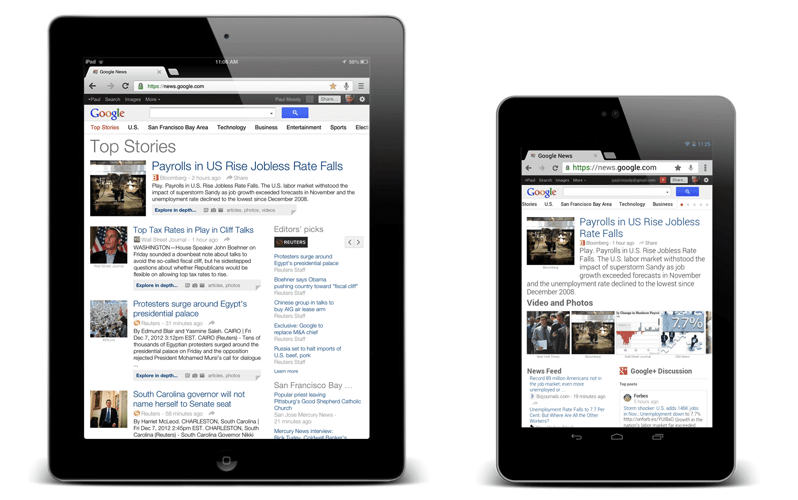 google news ipad