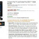 Amazon Offering Fire TV & Kindle Fire HDX Tablet Bundle