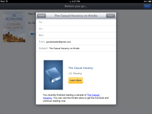 Amazon Introduces Samples in Kindle for iOS