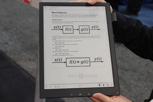 A Second Look At The Sony 13 3 Inch E Reader