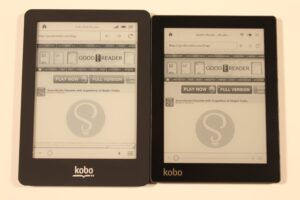 Kobo Aura and Kobo Glo Comparison Video