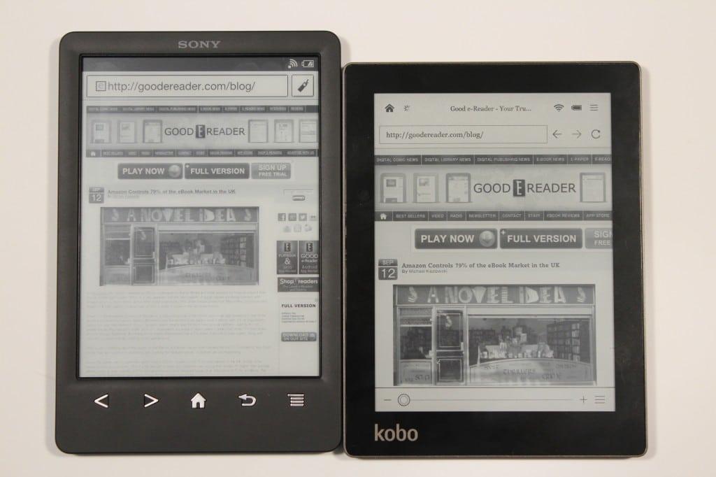 Kindle Vs Sony Reader: Sony PRS-T3 Vs Kobo Aura