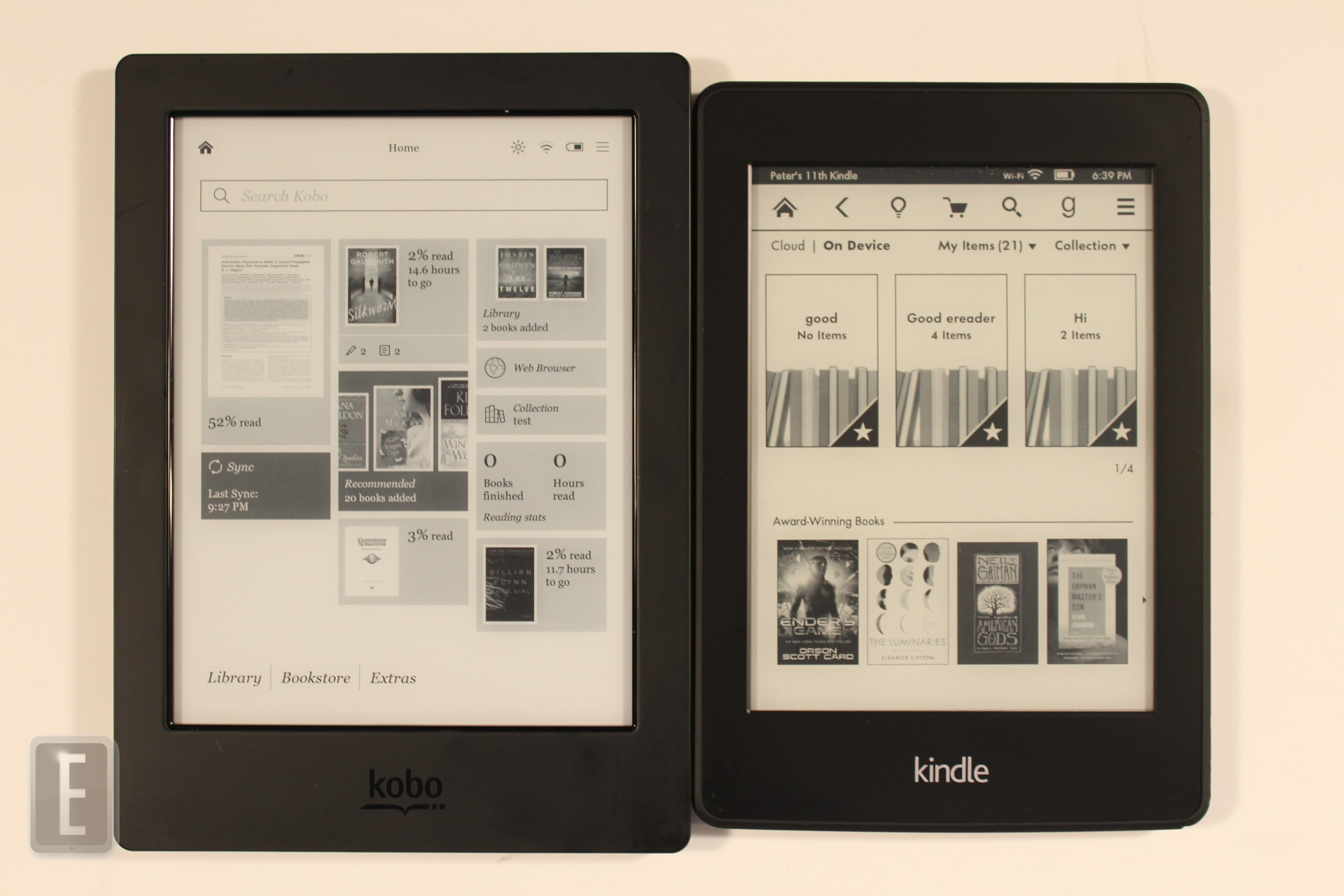 Amazon kindle paperwhite 2 vs kobo aura h2o for Housse kobo aura h2o edition 2