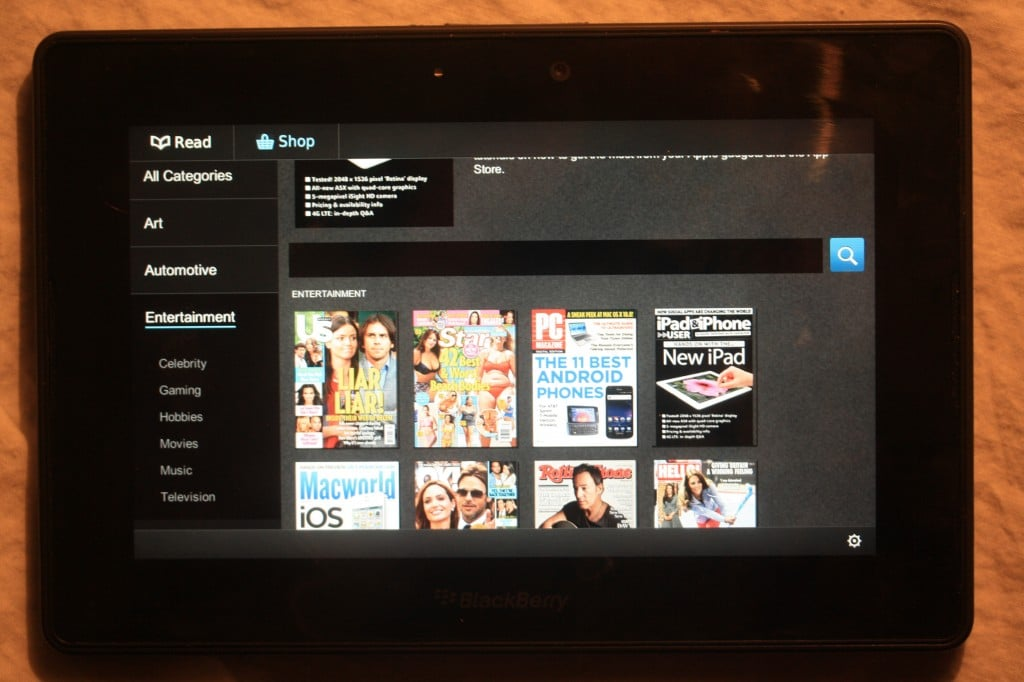 Zinio Now Available on Blackberry Playbook via APP World