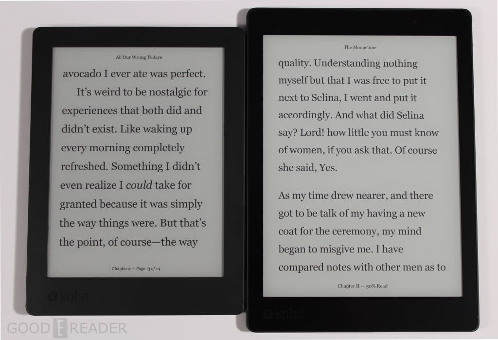 kobo aura one vs kobo aura h2o edition 2