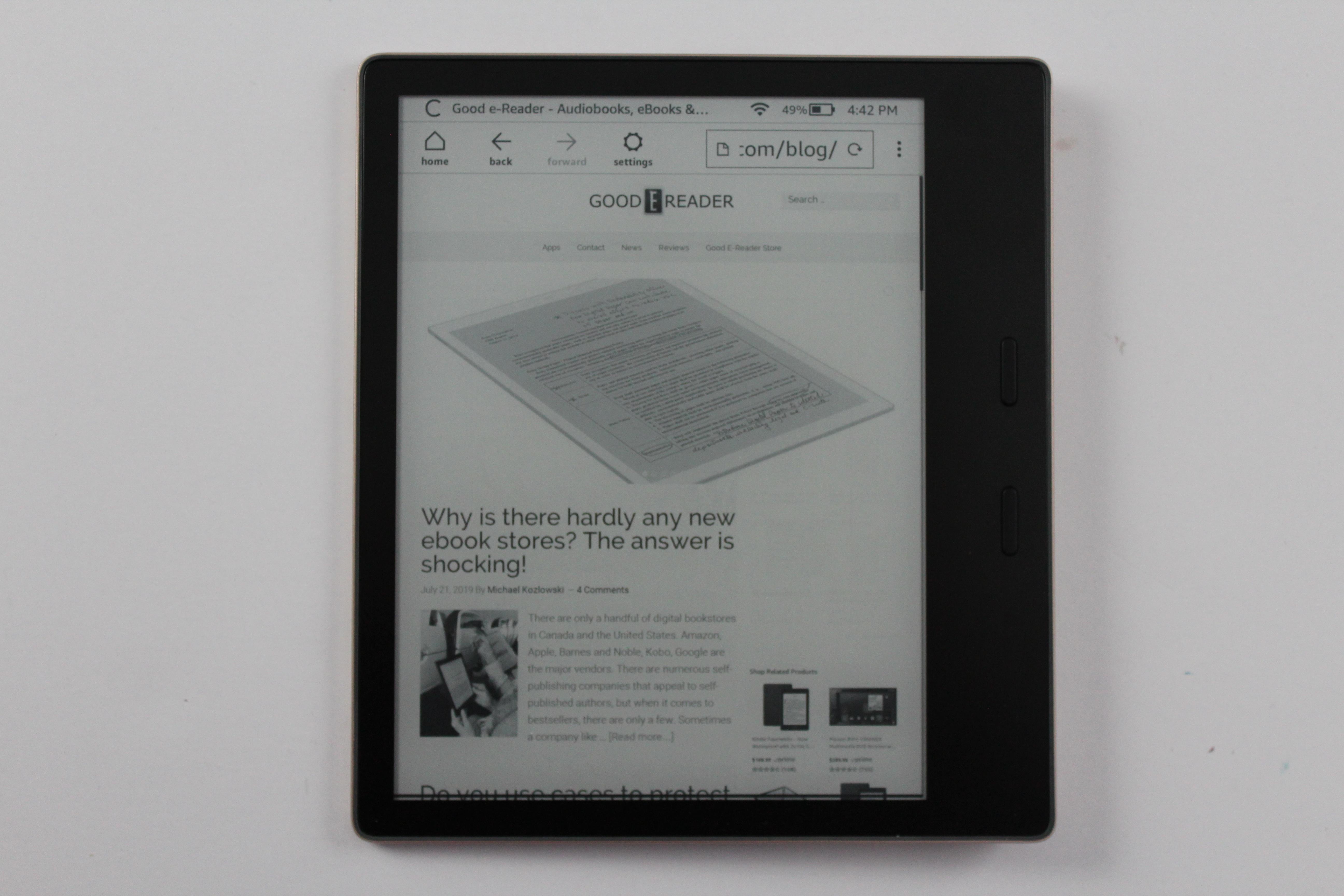 Amazon Kindle Oasis 3 2019 E Reader Review Good E Reader