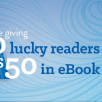 50 people will win $50 in Kindle e-book Credits