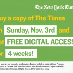 New York Times Offering Free Month Long Access to its Web and Smartphone App