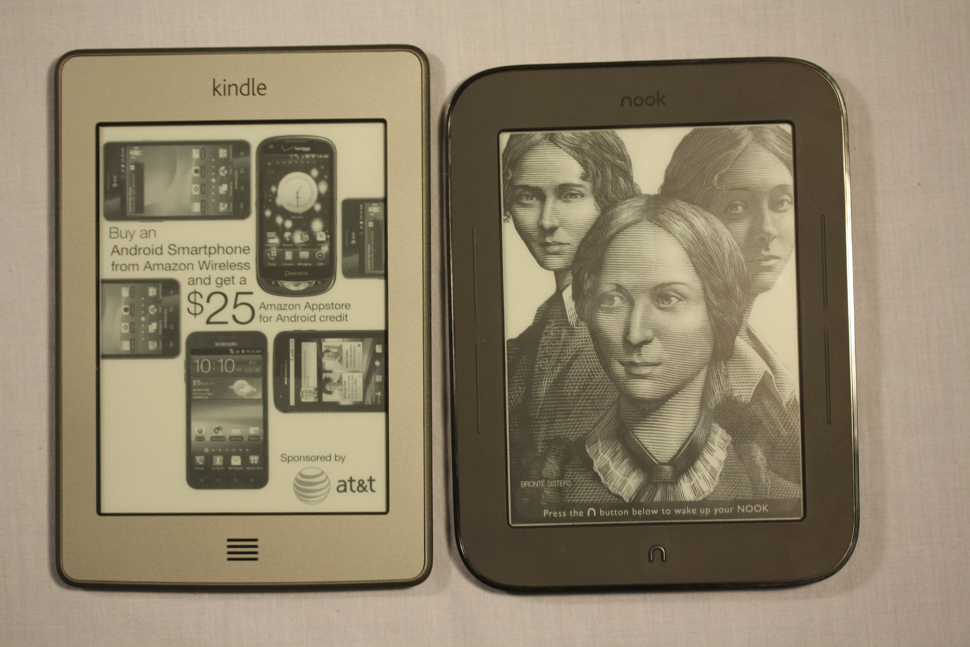 Nook Reader Vs Kindle Reader: Nook Simple Touch And Kindle Touch