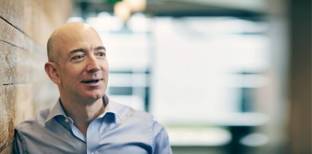ca. 2012 --- Jeff Bezos --- Image by © Michael Prince/Forbes Collection/Corbis Outline