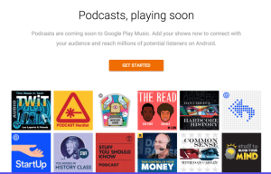 Google Play Podcasts is launching this month