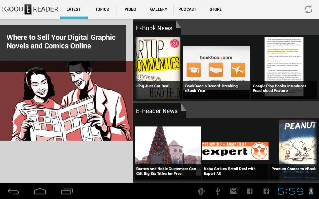 good e-reader news app android