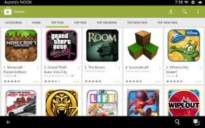 Video: Google Play on the Nook HD