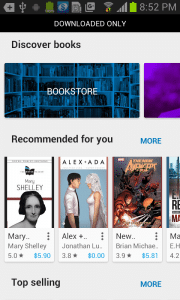 Here is the New Google Play Books Discovery Feature
