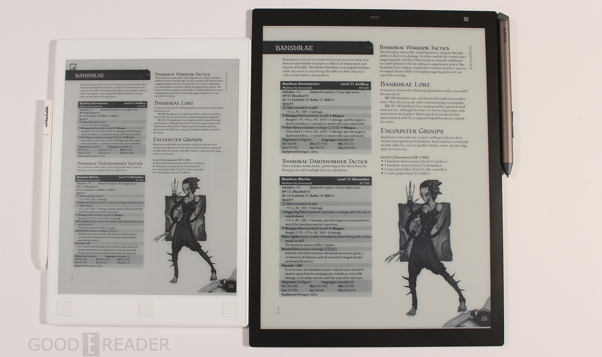 Kindle Vs Sony Reader: Sony Digital Paper DPT-RP1 VS The Remarkable