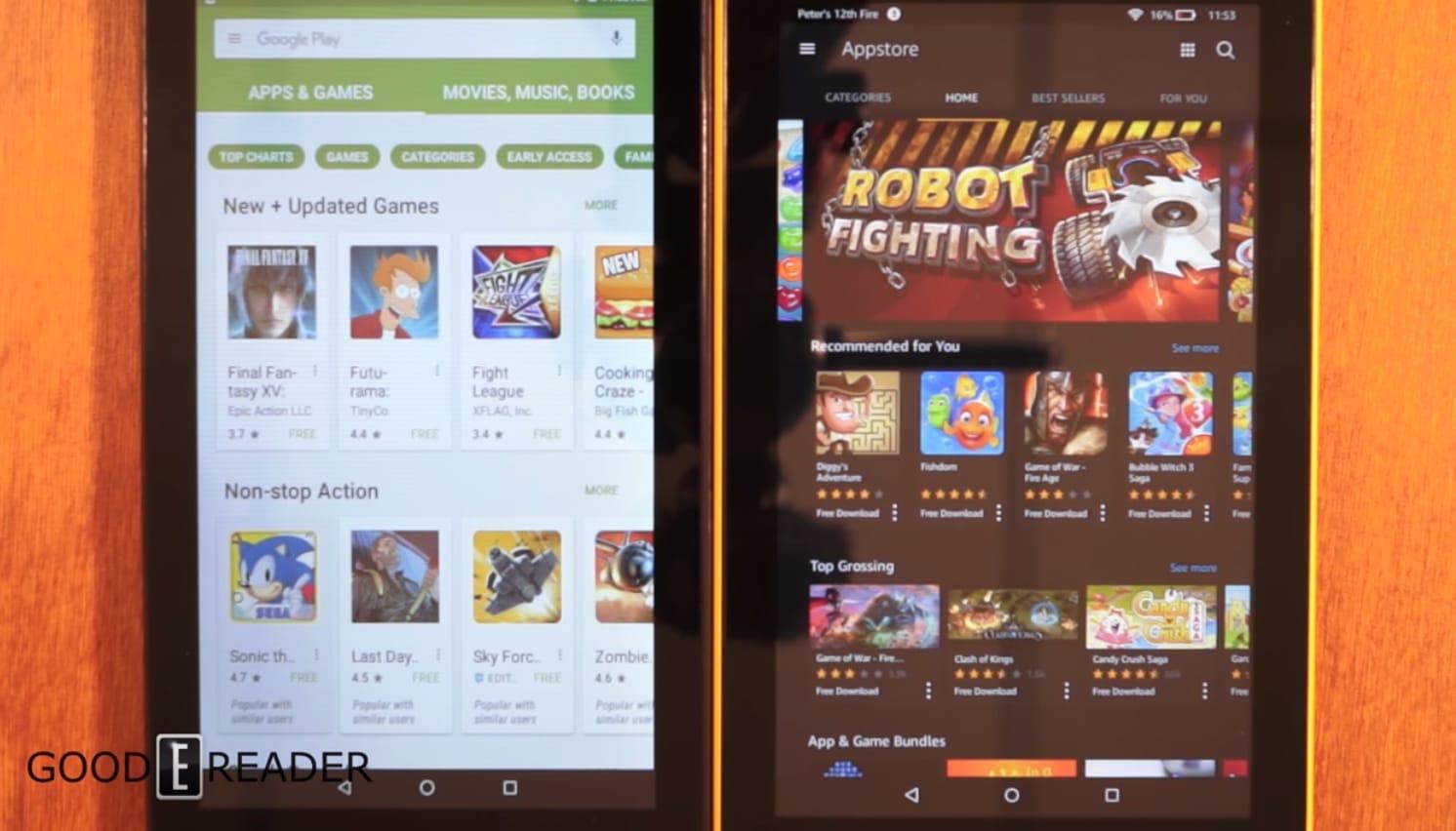 Amazon Fire 7 with Alexa vs Nook Tablet 7