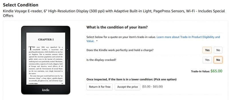 trade in your kindle